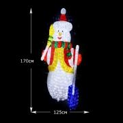 "3D LED Фигура ""Снеговик"",170 см"
