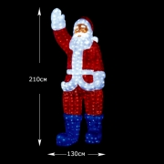 "3D-LED Фигура ""Дед Мороз"",210 см"