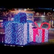 LED Gift Box белый синий