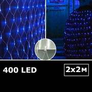 LED сетка с одинарными светодиодами 2х2м синий с контроллером