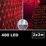 LED сетка с одинарными светодиодами 2х2м красный с контроллером