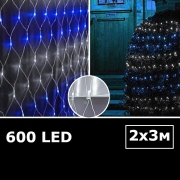 LED сетка с одинарными светодиодами 2х3м WB с контроллером