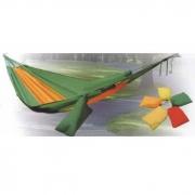 Гамак походный с сумочкой (желто-зеленый)