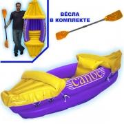 """Лодка """"Каноэ"""" с веслами"""