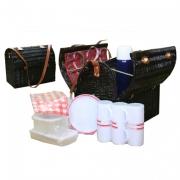 Набор для пикника с изотермическим отделением на 6 персон (красн