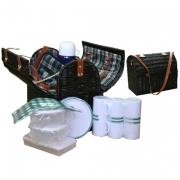 Набор для пикника с изотермическим отделением на 6 персон (зелен