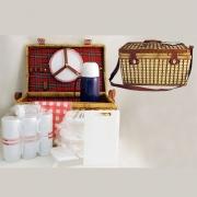 Набор для пикника на 6 персон (красная шотландка)
