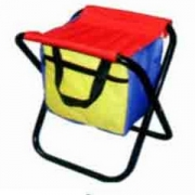 """Табурет """"Радужный"""" складной,разноцветный с сумкой"""