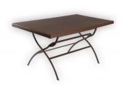 Стол прямоугольный складной,коричневый