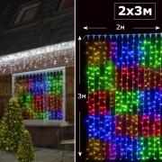 LED занавеc 2х3м RGBY с контроллером