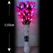 Светодиодные букет лилия в вазе красный