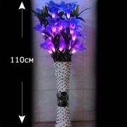Светодиодные букет лилия в вазе  белый
