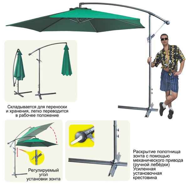 Как сделать пляжный зонт от солнца своими руками