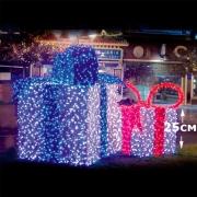 LED Gift Box красный 25см