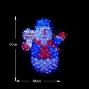 LED Снеговик 90 см