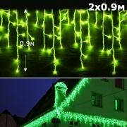 Led бахрома с контроллером 0,9м зеленый