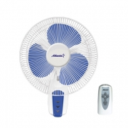 Вентилятор настенный(бело-синий)
