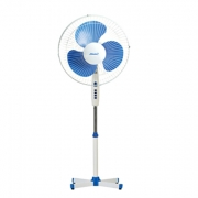 Вентилятор напольный(бело-синий)