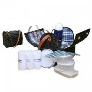Набор для пикника с изотермическим отделением на 6 персон (сине-