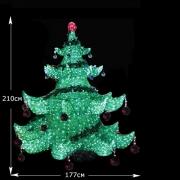 LED  Хрустальная  елка    2.1м
